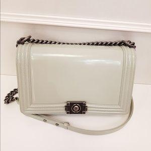 Chanel medium white boy bag